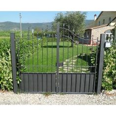 Wrought Iron Pedestrian Gate. Customize Realisations. 073 Front Gates, Fence Panels, Pedestrian, Outdoor Furniture, Outdoor Decor, Wrought Iron, Outdoor Structures, Ebay, Cabinets