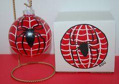 Spiderman Christmas Ornament Gift Set Hand by ALihlBestCreations, $29.00