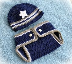 Baby Dallas Cowboys Beanie and Diaper Cover Set, Photo Prop, Baby Football, Baby Dallas Cowboys Set, MADE TO ORDER - Newborn to 24 Months. $35.00, via Etsy.