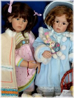 Collectible dolls S.Skille *Andrea* -sisters
