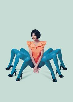 Creative Woman, Design, Graphic, Spider, and Legs image ideas & inspiration on Designspiration Mark Ryden, Photomontage, Trevor Brown, Foto Flash, Poses Modelo, Illustration Arte, Poesia Visual, Art Photography, Fashion Photography