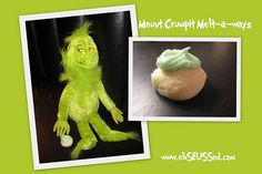 Grinch cookies to eat while reading How The Grinch Stole Christmas