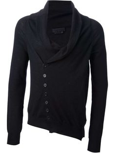 Alexander McQueen asymmetric cardigan for ($946.00) / Wantering -- Interesting.