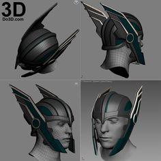3D Printable Model: Thor Ragnarok Helmet | Print File Format: STL – Do3D.com