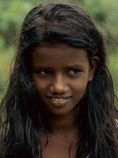 A young Sri Lankan girl.