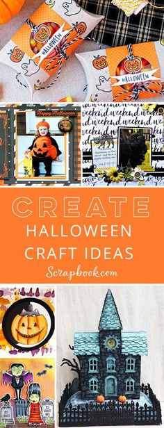 Get Inspired Today! Find lots of fantastic Halloween craft ideas at Scrapbook.com!
