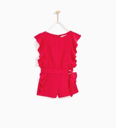 ZARA - KIDS - JUMPSUIT WITH FRILL AND BUCKLE