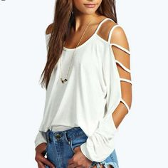 90e41276 101 Best Womens cold shoulder tops for summer images | Shoulder tops ...