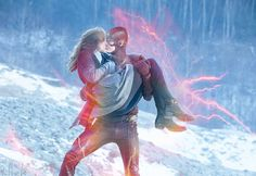 Snowbarry Fan Art kiss ~ Caitlin and Flash by RussiaNet