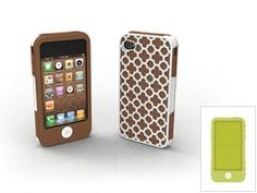 """$32  iPhone 4/4S 3-piece impact- resistant case set -  """"Barcelona"""" pictured."""