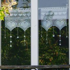 Crochet pattern, kitchen curtains, window dressing, diy deco # 28 Source by ladeuxl Crochet Curtains, Lace Curtains, Crochet Doilies, Valance, Crochet Lace, Crochet Curtain Pattern, Window Curtains, Easy Crochet, Crochet Diagram