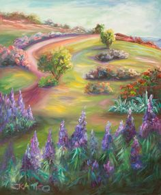 """Paintings by Concetta Antico - She has """"super vision"""" and sees 100 million colors vs. the """"normal"""" 1 million colors people without """"super vision"""" see."""