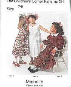 Children's Corner Pattern 211   Vintage  Michelle Dress