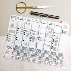 Thank god it's throwback Thursday, this week I am so lazy with my bujo . __ Some of you might remember this weekly layout from May. I really liked it, but for my A5 notebook it was too small. Maybe I should try it in my Nuuna (it's a little bigger than A5). #bulletjournal#bujojunkies#bulletjournalcommunity#planner#plannercommunity#plannergirl#filofax#filofaxing#stationary#wearebujo#germanbujojunkies#plannerstamps#sweetstampshop#studiol2e#nuuna#notebook#tbt#weeklyspread