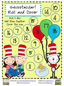 Mrs. Lirette's Learning Detectives: Seusstacular! Roll and Cover Freebie