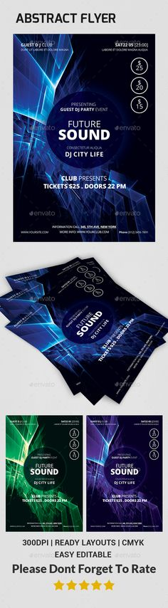 Abstract Flyer - Clubs & Parties Events
