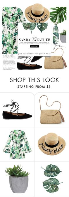 """""""Tropical thoughts"""" by andronic-otilia ❤ liked on Polyvore featuring Gianvito Rossi, Mar y Sol, Lux-Art Silks and S'well"""