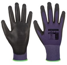 Portwest Touchscreen PU Purple/Black Work Safety Gloves Multi Sizes New Nylons, Safety Gloves, Men's Gloves, Couture, Purple And Black, Blackwork, This Or That Questions, Detail, Assemblage