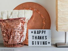 Lightbox Ideen Thanksgiving | The Nina Edition