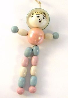 Vintage Baby Rattle or Crib Toy Wood Beads by ConvergedCommodities