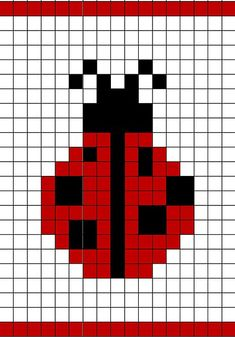 Dec 2019 - Ladybug Chart pattern by Annie Brunet - duplicate stitching for your knitting pr. : Ladybug Chart pattern by Annie Brunet – duplicate stitching for your knitting projects – Second Crafting Knitting Charts, Knitting Stitches, Knitting Patterns Free, Crochet Patterns, Needlepoint Stitches, Free Pattern, Cross Stitch Designs, Cross Stitch Patterns, Quilt Patterns
