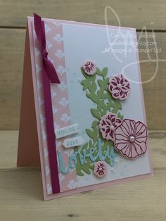 Just Lovely | Stampin\' Up! | Oh So Eclectic | Lovely Friends #literallymyjoy #flowers #pearls #watercoloring #berryburst #powderpink #FreshFloralsDSP #20172018AnnualCatalog