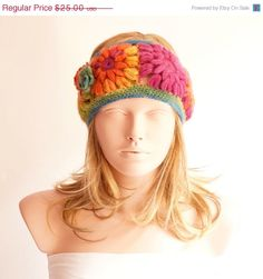 ON SALE Rainbow Headband Winter Headband Colorful band by Periay, $18.75
