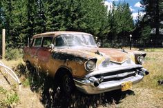 1957 Chevrolet Ambulance: Rare and Scarce? Rusted Development, Vintage Cars, Antique Cars, 57 Chevy Bel Air, Rusty Cars, 1957 Chevrolet, Abandoned Cars, Nice Cars, Barn Finds
