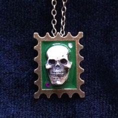 Skull stamp pendant
