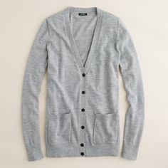 Cozy gray cardigan... yes please. #17college