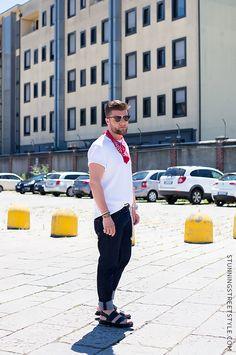Streetstyle #mfw #bandana #mfw #menswear StunningStreetstyle