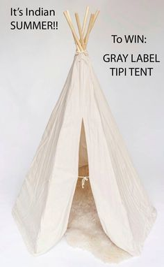It's Indian Summer! To Win GRAY LABEL TIPI TENT  #win #offer #kidsfashion #tipi teepee #tent #kinderen #kids #kinderkleding #graylabel