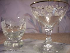 Two unusual size Bar Glasses by ECCENTRICRON on Etsy