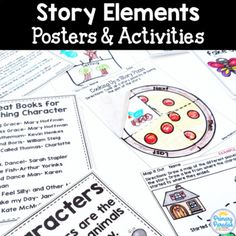 This resource is designed to help you explore story elements, reading genres, and the parts of a boo Reading Genre Posters, Reading Genres, Book Posters, Making Connections, Book Suggestions, Book Recommendations, Character Setting Plot, Story Elements Posters