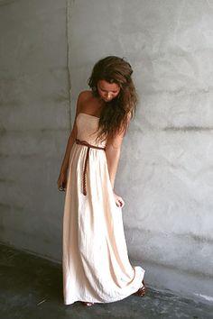 Cream maxi dress.   summer fashion collection #2dayslook #summercollection  www.2dayslook.com