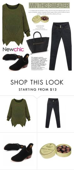 """Win this sweater by Newchic!"" by helenevlacho ❤ liked on Polyvore featuring Charbonnel et Walker, Anja, women's clothing, women's fashion, women, female, woman, misses, juniors and newchic"