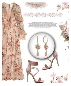 """Color Me Pretty: Head-to-Toe Pink"" by antemore-765 ❤ liked on Polyvore featuring Zimmermann, Charlotte Russe, Marchesa and monochromepink"