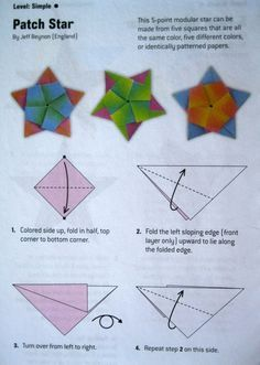I had several requests for how to fold the star in the previous post. I wanted to take photographs of each step, but I think it's easier for me to just photograph the direction pages and put them u...
