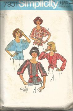 1970s Boho Peasant Blouse 3 Styles Flutter Sleeves by kinseysue