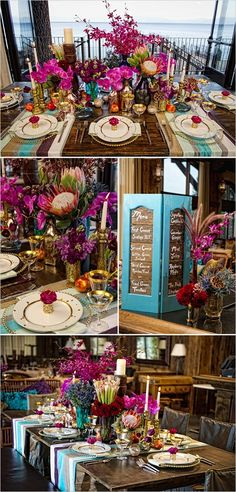 tropical wedding decor!!! That would be perfect for Mindys wedding colors