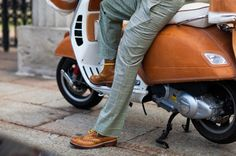 http://chicerman.com  thestylebuff:  Leather Vespa  #menshoes