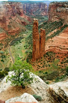 ✯ Spider Rock in Canyon de Chelley - Arizona