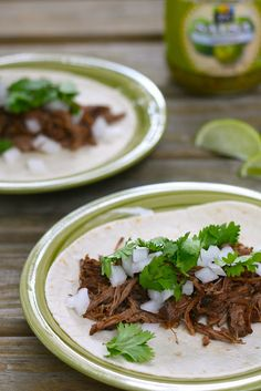 Tacos de Barbacoa -- this recipe for braising a roast is AMAZING