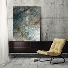 """Abstract Painting, large abstract art, fine art print, canvas art, wall art, gray white brown blue pink, modern art, """"Shifting V"""""""
