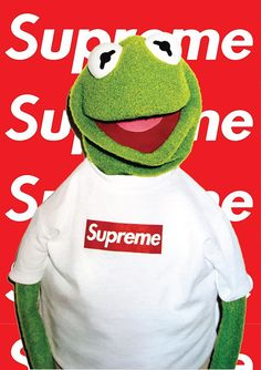 Supreme x Kermit The Frog Iconic Poster | Etsy