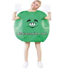 disfraz lacasito emanems verde unisex en talla m/l en el que incluye manoplas, cubrepies y traje de goma espuma.