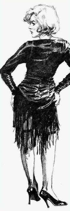 "Marilyn art from ""Some Like It Hot"" ~ artist: Jose Pepe Gonzales"