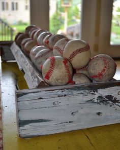 Vintage Baseball collection. I could do something like this for all Thailer's game balls