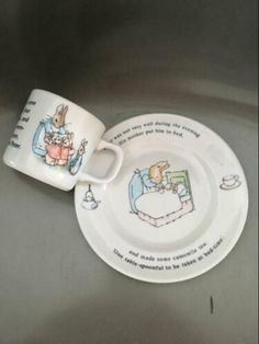 Children's Dishes Bright Wedgwood Peter Rabbit Christening Set Bowl/cup/plate/money Box