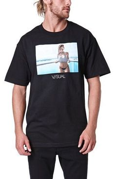 b70162594536e2 New Visual by Van Styles Mens Black Nicole Mejia Graphic Print Tee T-Shirt  Sz M  Vans  GraphicTee